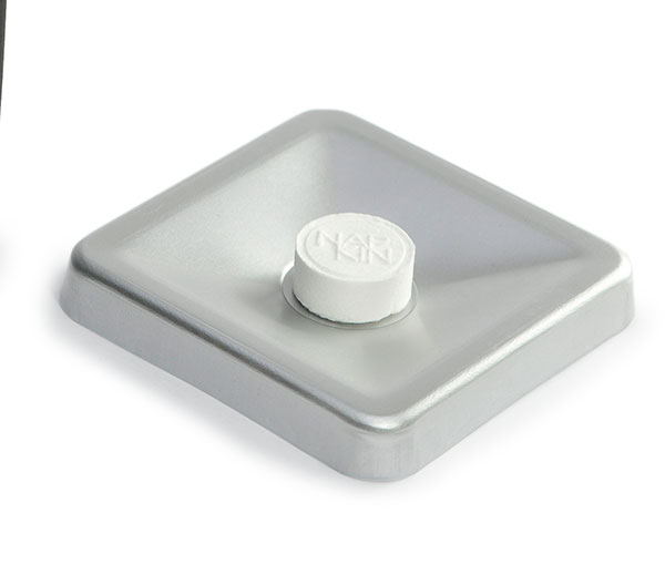 Cuenco aluminio para toallita comprimida